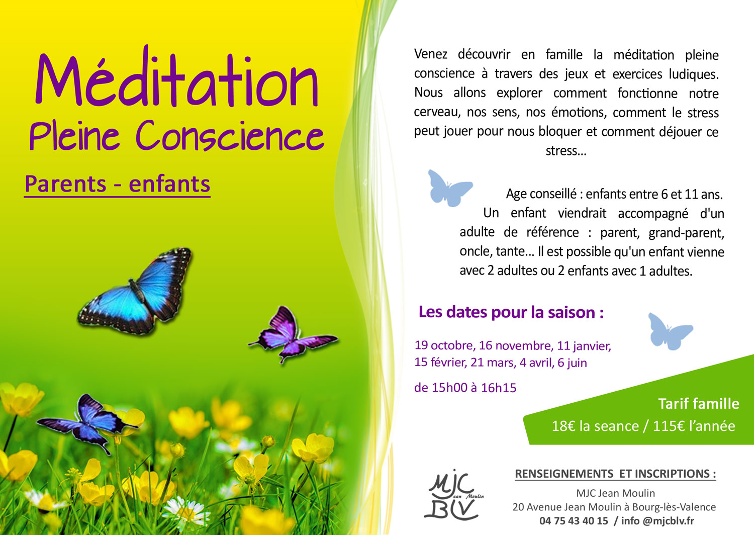 STAGES MEDITATION PARENTS-ENFANTS