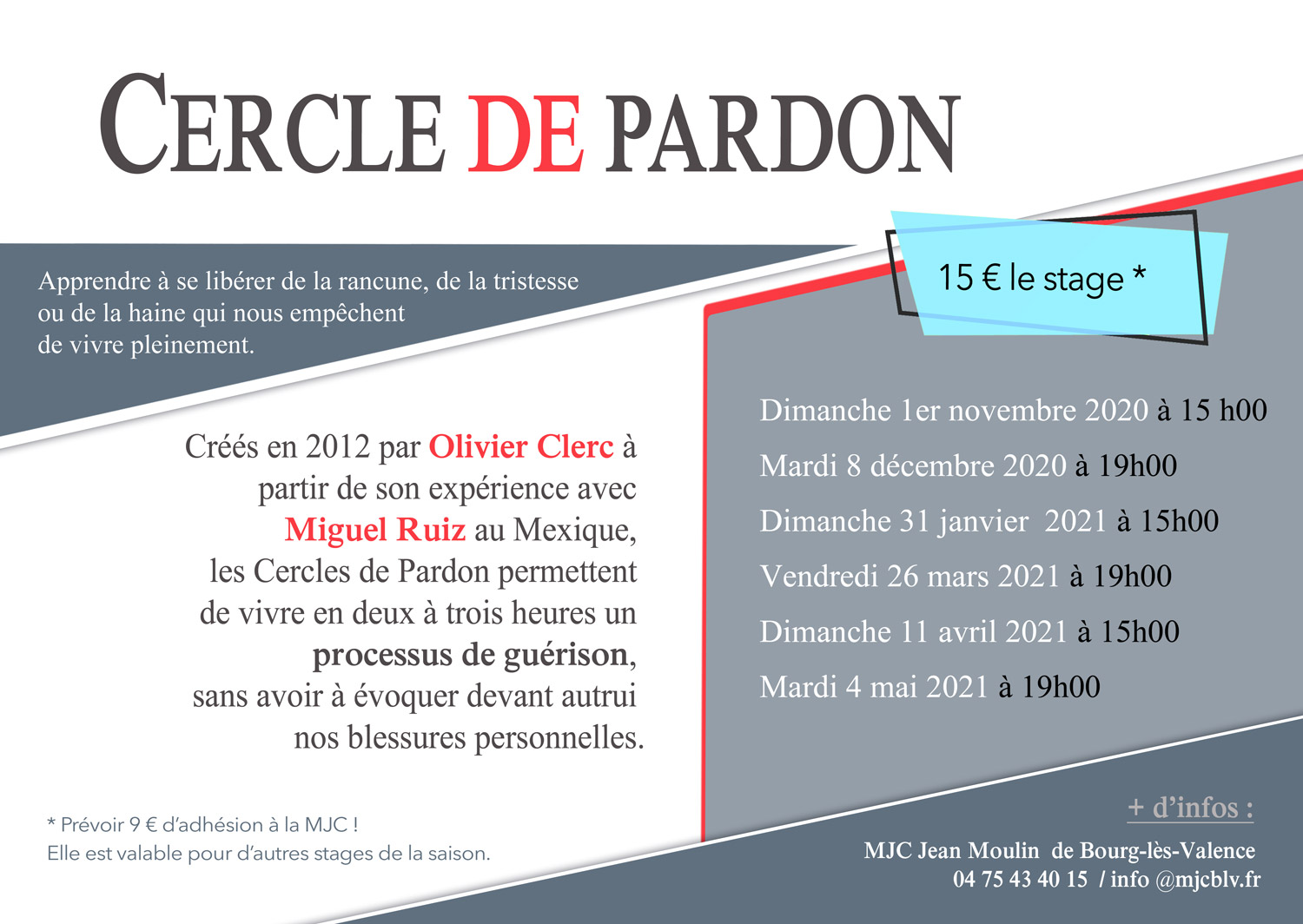 STAGES CERCLE DU PARDON
