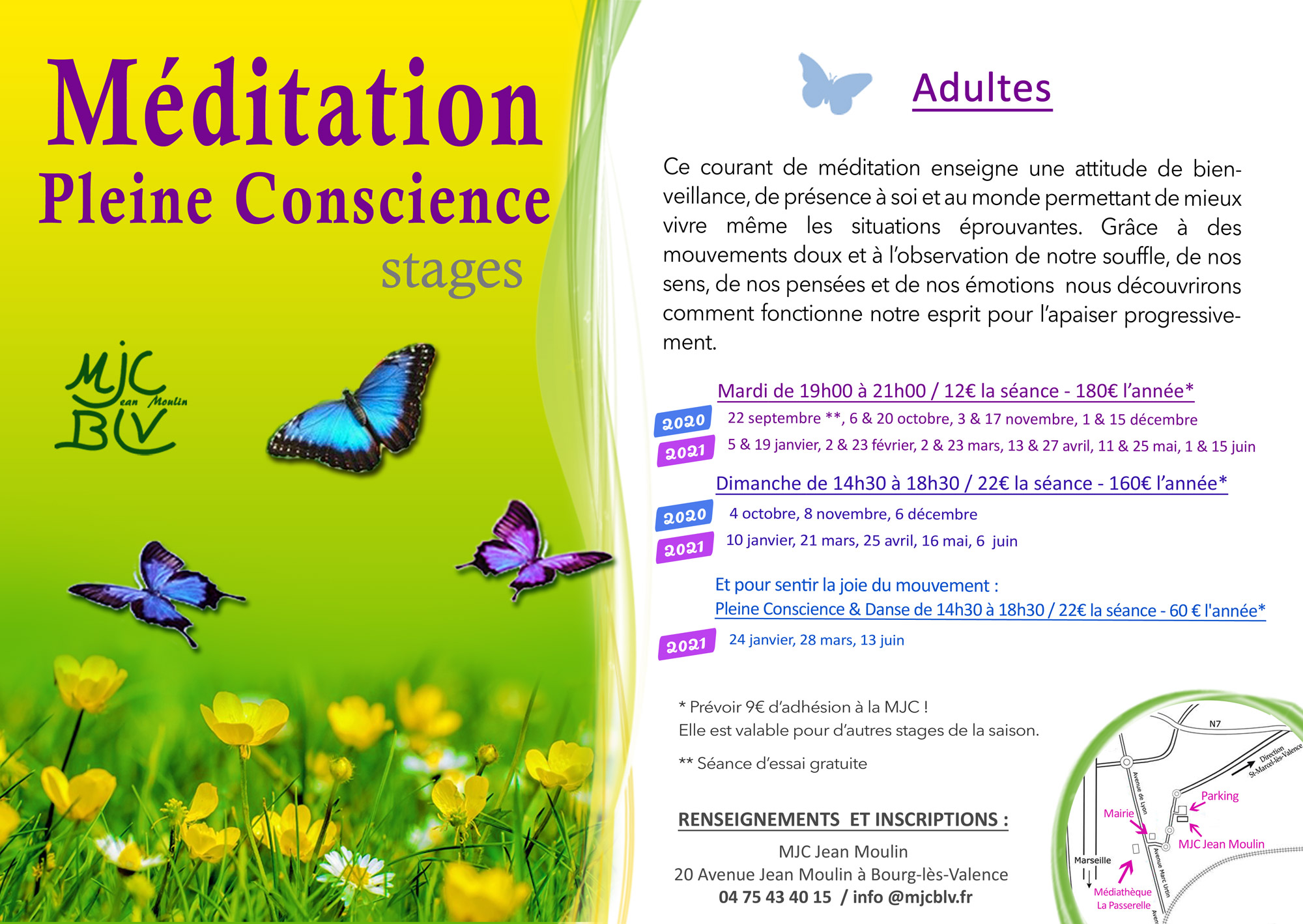 STAGES PLEINE CONSCIENCE ADULTES